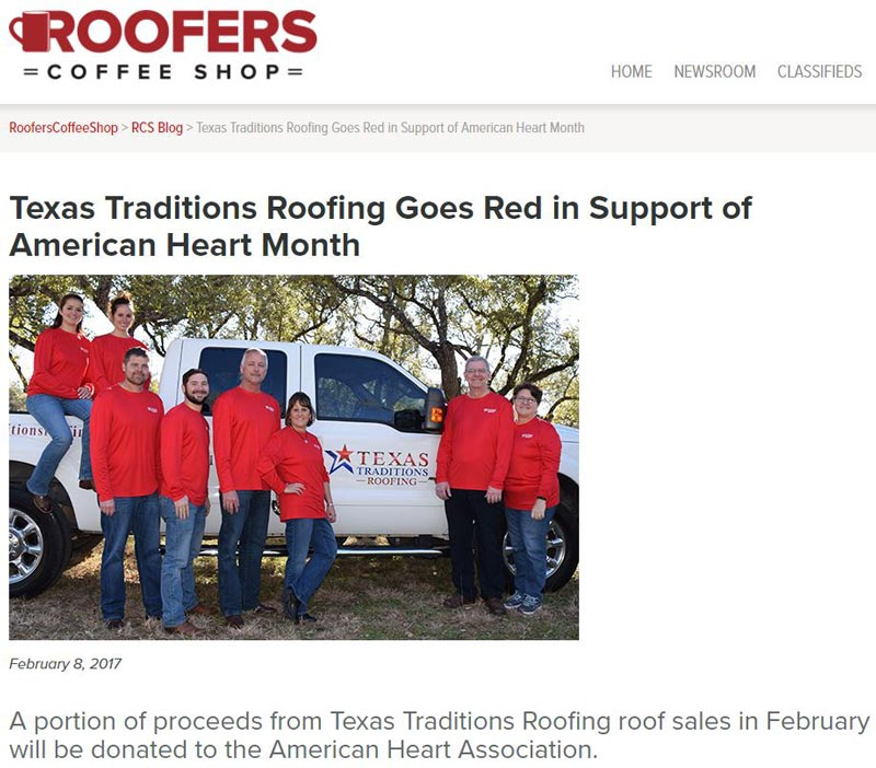 Texas Traditions Roofing Spotlighted on Roofers Coffee Shop