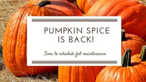 Pumpkin Spice is Back - That Means it's Time for Fall Maintenance