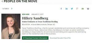 Hillery Sandberg In the News
